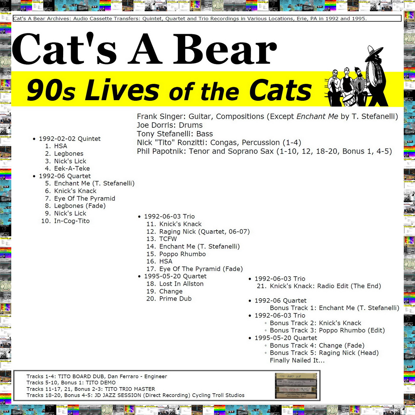 90s Lives of the Cats