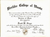 Bachelor of Music Degree, Composition, Berklee College of Music, 1980